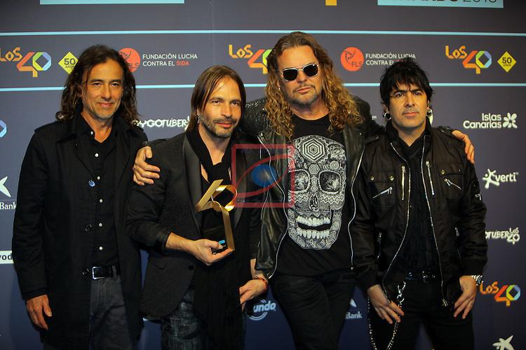 Los 40 MUSIC Awards 2016 - Photocall.<br /> Mana.