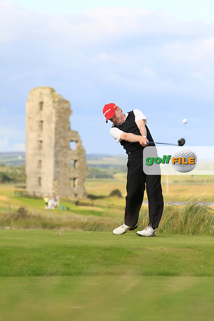 Robert Neville (The Links Portmarnock) on the 13th tee during Round 2 of The South of Ireland in Lahinch Golf Club on Sunday 27th July 2014.<br /> Picture:  Thos Caffrey / www.golffile.ie