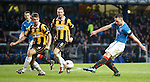 Lee Wallace rattles in a shot
