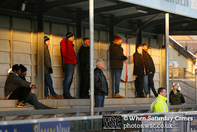 Blyth fans. Blyth Spartans v Brackley Town, 30112019. Croft Park, National League North. Photo by Paul Thompson.