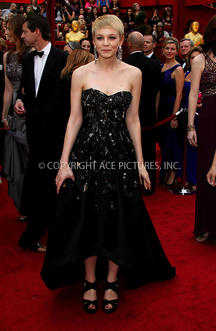 WWW.ACEPIXS.COM . . . . .  ....March 7 2010, Hollywood, CA....Actress Carey Mulligan at the 82nd Annual Academy Awards held at Kodak Theatre on March 7, 2010 in Hollywood, California.....Please byline: Z10-ACE PICTURES... . . . .  ....Ace Pictures, Inc:  ..Tel: (212) 243-8787..e-mail: info@acepixs.com..web: http://www.acepixs.com