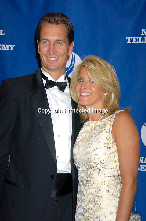 Chris Collinsworth of Fox Sports and wife Holly..at The 25th Annual Sports Emmy Awards held on april 19, 2004 at the Marriott Marquis Hotel. Photo by Robin Platzer, Twin Images