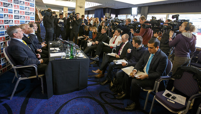 Gordon Strachan is appointed as the new Scotland manager as he speaks to the media.
