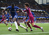 30th September 2017, Stamford Bridge, London, England; EPL Premier League football, Chelsea versus Manchester City; Leroy Sane of Manchester City runs passed Antonio Rudiger of Chelsea in action