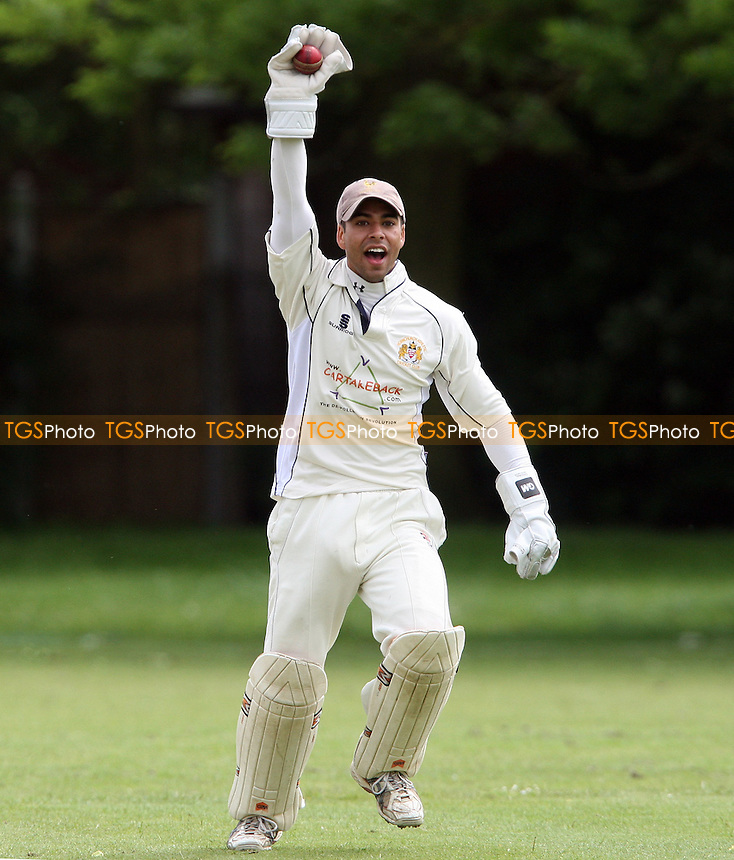 Hornchurch Athletic wicket keeper appeals for a wicket - Hornchurch Athletic CC vs Newham CC, Essex League at Hylands Park, Hornchurch - 09/06/12 - MANDATORY CREDIT: Rob Newell/TGSPHOTO - Self billing applies where appropriate - 0845 094 6026 - contact@tgsphoto.co.uk - NO UNPAID USE..