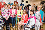 At the  fashion and coffee morning in aid of MS, Tralee and West Kerry Branches in Paco Store, Tralee. Front l-r  Maura Whelan, Margaret O'Shea, Helena Foran, Eileen Whelan, Audrey Moran, Monica Curtin, Dolores O'Connor, Carol Dooley and Margaret McKenna