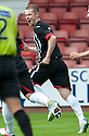 Pars' Andrew Geggan (6) celebrates after he scores their first goal.