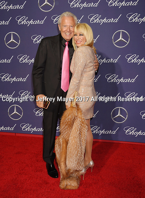 PALM SPRINGS, CA - JANUARY 02: Producer Alan Hamel (L) and actress Suzanne Somers attend the 28th Annual Palm Springs International Film Festival Film Awards Gala at the Palm Springs Convention Center on January 2, 2017 in Palm Springs, California.
