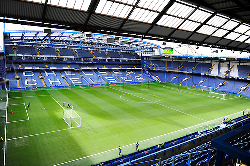 21.02.2016. Stamford Bridge, London, England. Emirates FA Cup 5th Round. Chelsea versus Manchester City. Chelsea stand waiting for the fans