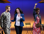 James Snyder, Idina Menzel and LaChanze during the Broadway Opening Night Performance curtain call for  'IF/THEN' at the Richard Rodgers Theatre on March 30, 2014 in New York City.