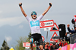 Chris Froome (GBR) Team Sky wins Stage 14 of the 2018 Giro d'Italia, running 186km from San Vito al Tagliamento to Monte Zoncolan features Europe's hardest climb, Italy. 19th May 2018.<br /> Picture: LaPresse/Gian Mattia D'Alberto | Cyclefile<br /> <br /> <br /> All photos usage must carry mandatory copyright credit (&copy; Cyclefile | LaPresse/Gian Mattia D'Alberto)