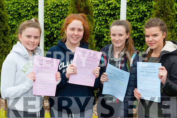 Killarney Presention girls Andrea McCarthy, Katie O'Connor, Erica webber and Dovile Blazyte happy with their first Leaving Cert exam on Wednesday