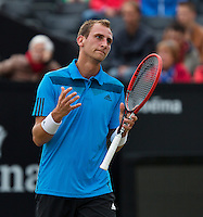 Netherlands, Den Bosch, 19.06.2014. Tennis, Topshelf Open, Thiemo de Bakker (NED) is frustrated<br /> Photo:Tennisimages/Henk Koster