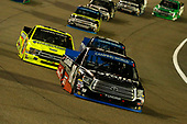 #18: Noah Gragson, Kyle Busch Motorsports, Toyota Tundra Safelite AutoGlass and #88: Matt Crafton, ThorSport Racing, Ford F-150 Ideal Door/Menards