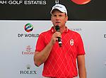 Robert Karlsson winner of the Dubai World Championship speaks at the end of the Final Day of the Dubai World Championship, Earth Course, Jumeirah Golf Estates, Dubai, 28th November 2010..(Picture Eoin Clarke/www.golffile.ie)