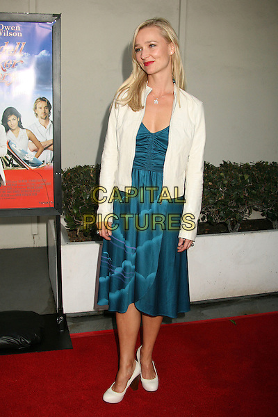 "KARI MATCHETT .""The Wendell Baker Story"" Los Angeles Premiere at the Writers Guild Theatre, Beverly Hills, California, USA..May 10th, 2007.full length blue turquoise green dress white shoes jacket .CAP/ADM/BP.©Byron Purvis/AdMedia/Capital Pictures"