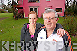 Former Kerry Footballer Paudie O'Mahoney pictured with his daughter Fiona at his house in Killarney.