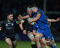 4th January 2020; RDS Arena, Dublin, Leinster, Ireland; Guinness Pro 14 Rugby, Leinster versus Connacht; Max Deegan (Leinster) hands off a tackle from Caolin Blade (Captain Connacht)  - Editorial Use