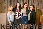 At the Gaelcholáiste Chiarraí TY Fashion Show at the Rose Hotel on Tuesday were  Lauren Barrett, Melanie Pierce, Shauna Moriarty and Ria Malik.