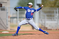 Los Angeles Dodgers pitcher Robert Fernandez (59) during an Instructional League game against the Cincinnati Reds on October 11, 2014 at Goodyear Training Complex in Goodyear, Arizona.  (Mike Janes/Four Seam Images)