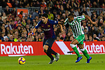 Luis Alberto Suarez Diaz of FC Barcelona (L) is followed by Sidnei Rechel Da Silva Junior of Real Betis during the La Liga 2018-19 match between FC Barcelona and Real Betis at Camp Nou, on November 11 2018 in Barcelona, Spain. Photo by Vicens Gimenez / Power Sport Images
