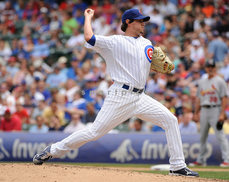 CASEY COLEMAN, of the Chicago Cubs in action during the Cubs game against the St. Louis Cardinals, on May 12, 2011 at Wrigley Field in Chicago, Illinois.  The Cardinals beat the Cubs 9-1.