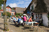 Denmark, Jutland, Møgeltønder: Mormor's Lille café (Grandma's little café) along Slotsgade | Daenemark, Juetland, Møgeltønder: Mormor's Lille café (Omas kleines Café) an der Slotsgade