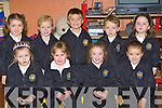 Junior infants O?ran Dwyer, Leah McCarthy, Holly Adair Duggan, Oisi?n O'Leary Robbie Moynihan, Ilona Sheehan, Sarah Daly, Brid Anne Crowley and Ruth Doyle in Anabala NS, Kilcummin on Tuesday (School have a not to give names in order policy)