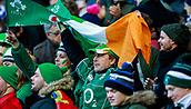 9th February 2019, Murrayfield Stadium, Edinburgh, Scotland; Guinness Six Nations Rugby Championship, Scotland versus Ireland; Irish fans celebrate their 22-13 victory at Murrayfield