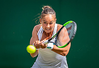 London, England, 1  st July, 2019, Tennis,  Wimbledon, Lesley Kerkhove (NED)<br /> Photo: Henk Koster/tennisimages.com