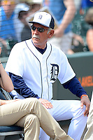 Detroit Tigers manager Jim Leyland #10 before a Spring Training game against the New York Mets at Joker Marchant Stadium on March 11, 2013 in Lakeland, Florida.  New York defeated Detroit 11-0.  (Mike Janes/Four Seam Images)