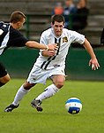 17 October 2007: The University of Vermont Catamounts' Tyler Hasman, a Senior from Portland, OR, in action against the University of Maryland Retreivers at Historic Centennial Field in Burlington, Vermont. The Catamounts and Retrievers battled to a scoreless, double-overtime tie...Mandatory Photo Credit: Ed Wolfstein Photo