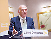 Liberal Democrat Leadership press conference. <br /> Tim Farron - outgoing leader <br /> <br /> Jo Swinson - deputy leader <br /> Vince Cable - new leader <br /> <br /> 20th July 2017 <br /> at The St Ermin&rsquo;s Hotel, London. Great Britain <br /> &nbsp;<br /> <br /> <br /> Photograph by Elliott Franks <br /> Image licensed to Elliott Franks Photography Services