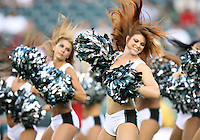 PHILADELPHIA - AUGUST 27: The Philadelphia Eagles cheerleaders perform before a game against the Jacksonville Jaguars on August 27, 2009 at Lincoln Financial Field in Philadelphia, Pennsylvania. (Photo by Hunter Martin/Getty Images) *** Local Caption ***