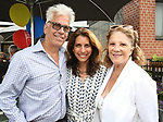 Steve Bakunas, Sarah Stern and Linda Lavin attend the Retirement Celebration for Sam Rudy at Rosie's Theater Kids on July 17, 2019 in New York City.