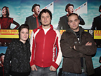 Montreal (Qc) CANADA - January 29, 2008 -Chloe Bourgeois, actress<br /> , Yves Christian Fournier, Director <br /> Maxime Dumontier, actor.<br /> <br /> Fournier film TOUT EST PARFAIT will open the 2008<br />  Rendez Vous du Cinema Quebecois.<br /> <br /> photo : Pierre Roussel (c)  Images Distribution