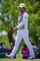Haru Nomura (JPN) departs 1 after sinking her putt during round 4 of  the Volunteers of America Texas Shootout Presented by JTBC, at the Las Colinas Country Club in Irving, Texas, USA. 4/30/2017.<br /> Picture: Golffile | Ken Murray<br /> <br /> <br /> All photo usage must carry mandatory copyright credit (&copy; Golffile | Ken Murray)