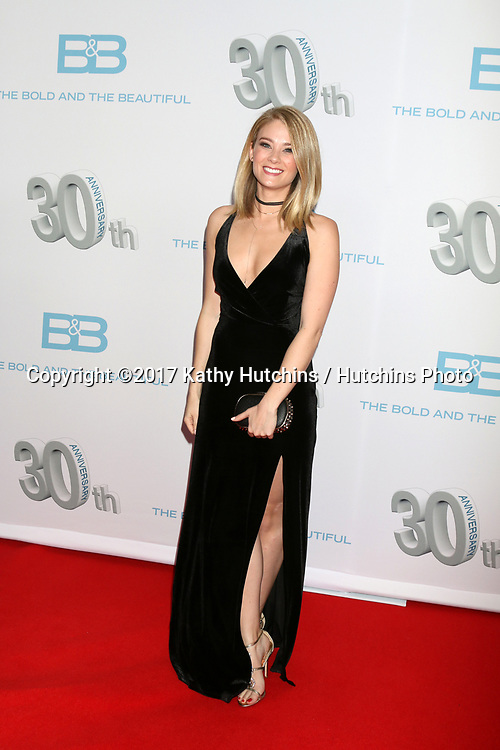 """LOS ANGELES - MAR 18:  Kim Matula at the """"The Bold and The Beautiful"""" 30th Anniversary Party at Clifton's Downtown on March 18, 2017 in Los Angeles, CA"""