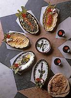 """Afrique/Egypte: Ecantillonnage de hors-d'oeuvre du restaurant """"Khan El-Khalili"""""""