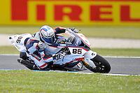 PHILLIP ISLAND, 27 FEBRUARY - Ayrton Badovini (ITA) riding the BMW S1000 RR (86) of the BMW Motorrad Italia SBK Team during race one of round one of the 2011 FIM Superbike World Championship at Phillip Island, Australia. (Photo Sydney Low / syd-low.com)