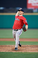 Pawtucket Red Sox starting pitcher Justin Haley (31) delivers a pitch during a game against the Rochester Red Wings on May 19, 2018 at Frontier Field in Rochester, New York.  Rochester defeated Pawtucket 2-1.  (Mike Janes/Four Seam Images)
