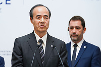 Mitsuhiro Matsumoto - Commissaire General adjoint du Japon<br /> Parigi Place Beauveau 5/4/2019 <br /> G7 Ministri dell'interno <br /> Foto JB Autissier/Panoramic/Insidefoto