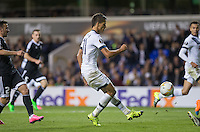 Erik Lamela of Tottenham Hotspur scores his goal during the UEFA Europa League match between Tottenham Hotspur and Qarabag FK at White Hart Lane, London, England on 17 September 2015. Photo by Andy Rowland.