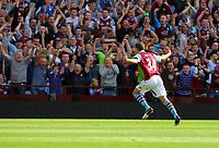 Saturday 15 September 2012<br /> Pictured: Matthew Lowton of Aston Villa celebrating his opening goal.<br /> Re: Barclay's Premier League, Aston Villa v Swansea City FC at Villa Park, West Midlands, UK.