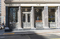 A JPMorgan Chase bank branch in New York shows its distressed look on Saturday, April 30, 2016. (© Richard B. Levine)