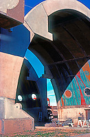 Paolo Soleri: ARCOSANTI. Entrance--galleria. Photo '77.