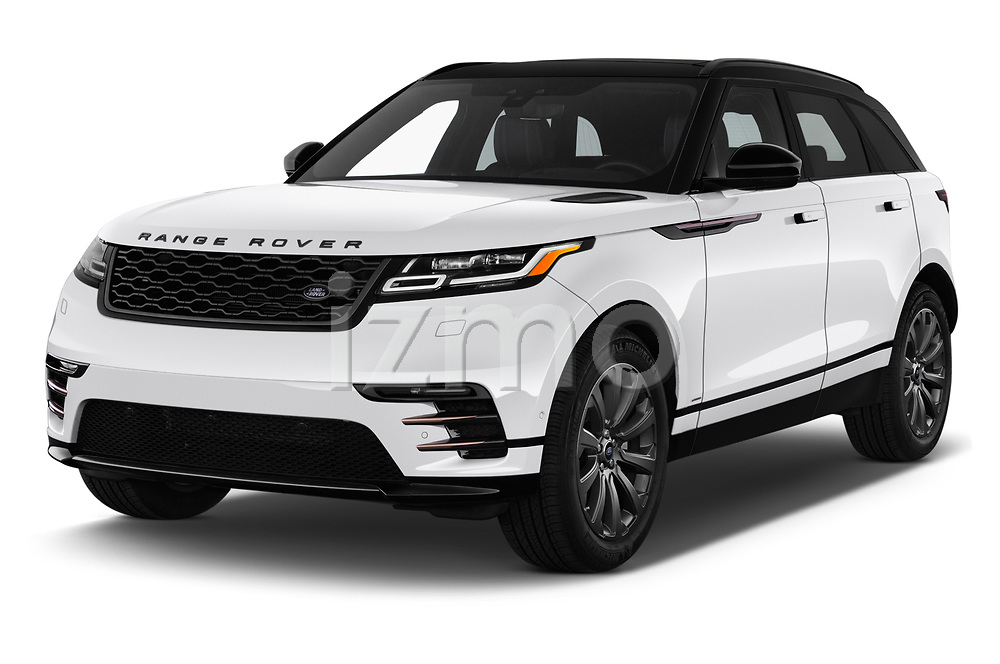 2018 Land Rover Range Rover Velar R-Dynamic SE 5 Door SUV angular front stock photos of front three quarter view