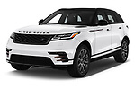 2018 Land Rover Range Rover Velar R-Dynamic SE 5 Door SUV angular front stock photos of front three quarter view