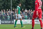 08.09.2018, pk-Sportpark, Cloppenburg, GER, FSP, SV Meppen vs Werder Bremen <br /><br />DFL REGULATIONS PROHIBIT ANY USE OF PHOTOGRAPHS AS IMAGE SEQUENCES AND/OR QUASI-VIDEO.<br /><br />im Bild / picture shows<br />Claudio Pizarro (Werder Bremen #04) freut sich über seinen Treffer zum 0:1, <br /><br />Foto © nordphoto / Ewert