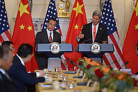 September 19, 2013  (Washington, DC)  Secretary of State John Kerry and Chinese Foreign Minister Wang Li hold a bilateral meeting at the Department of State.  (Photo by Don Baxter/Media Images International)
